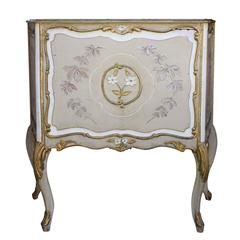 Large Wood Jardiniere Decorated with Chinoiseries