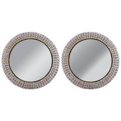 Pair of Illuminating Crystal Mirrors by Palwa, Germany, 1960s