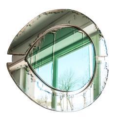 irys sculpture wall more mirror oval shape silvering art glass sabrina landini