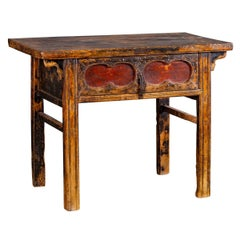 Antique Chinese Table Long Drawer Kaung Hsu Period circa 1875
