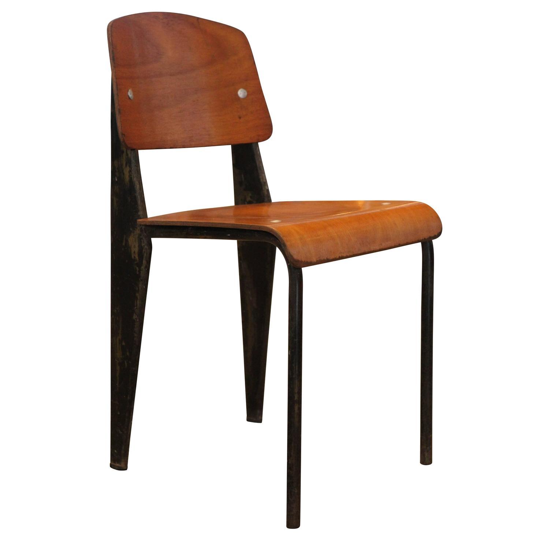 Jean prouve standard chair no 302 jean prouve ateliers - Jean prouve chaise standard ...