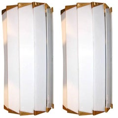 Pair of French Lucite Wall Lamps