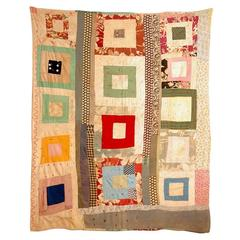 Gees Bend African American Concentric Squares Quilt