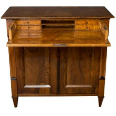 Biedermeier Walnut Secretary