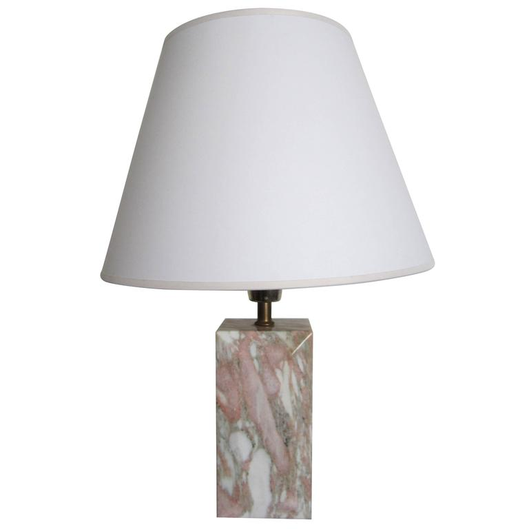 Modern Solid Marble Desk or Table Lamp, 1970s