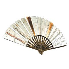 fan sculpture mirror old glass and silvering brass metal in stock