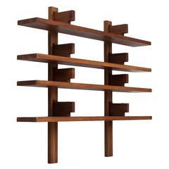 Pierre Chapo 'Bibliothèque' Wall-Mounted Bookcase