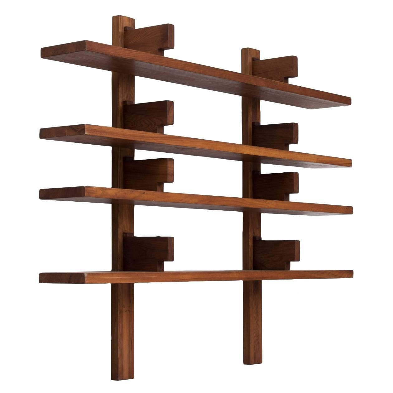 Pierre chapo 39 biblioth que 39 wall mounted bookcase for sale at 1stdibs - Bibliotheque 6 cases ...