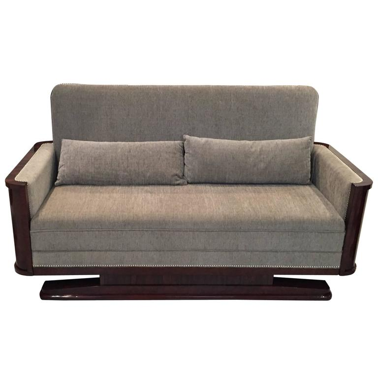 French Art Deco Macassar Sofa, circa 1930