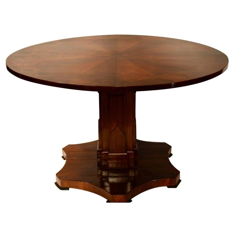 American Deco Pedestal Table For Sale at 1stdibs