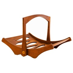 Jens Quistgaard Staved Teak Magazine Rack for Dansk