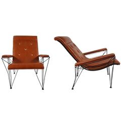 Pair of 1960s Italian Style Lounge Chairs