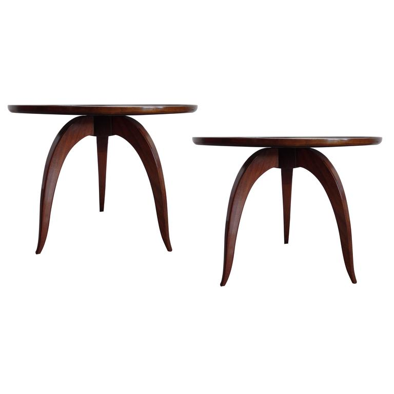 Two French Side Tables/Cocktail Tables in the Style of Jules Leleu