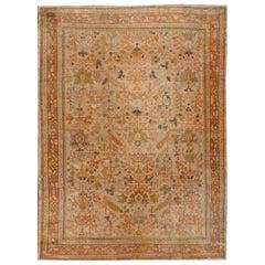 Antique Turkish Oushak Carpet 10′.5 x 14′