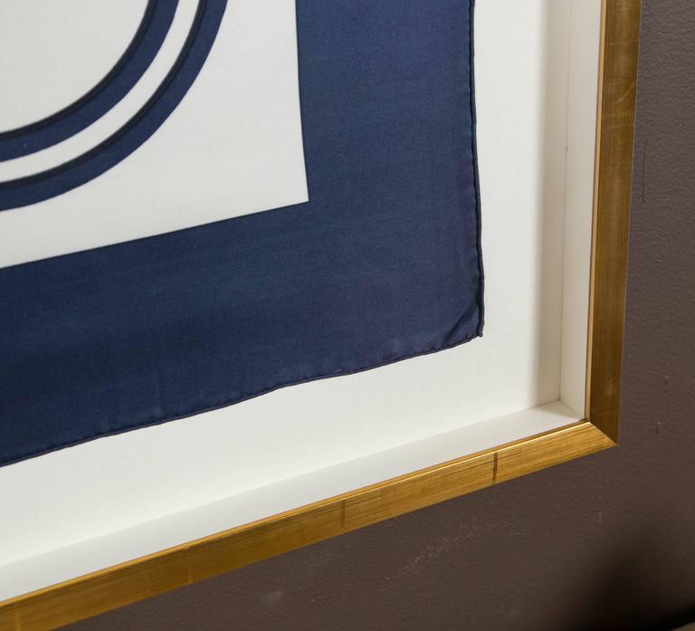 Hermes Scarf Framed In Gilted Frame At 1stdibs