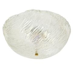 Large Venini Glass Dome Flush Mount, 1960s