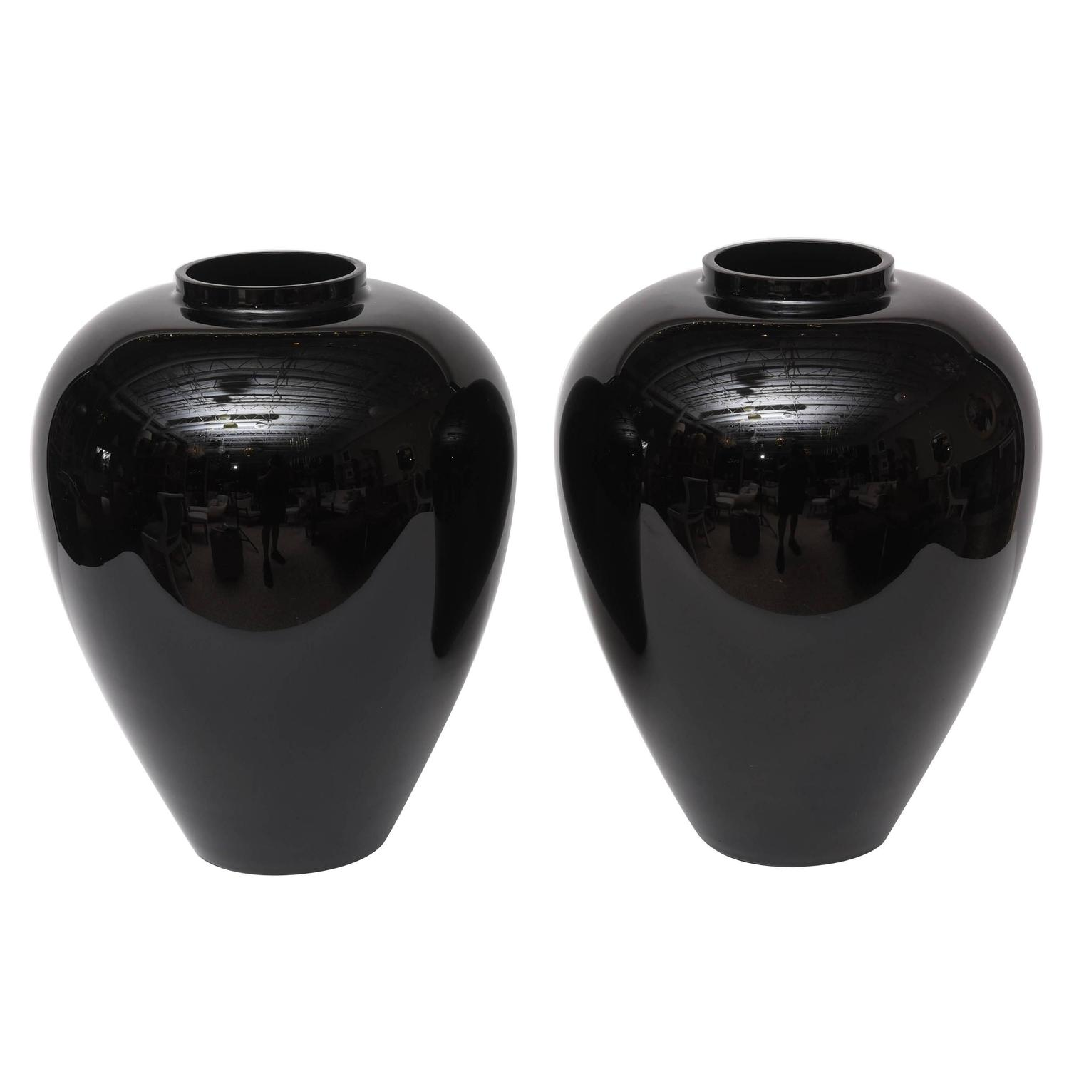 Barovier murano cornucopia vase dish for sale at 1stdibs pair of large black murano vases by barovier e toso reviewsmspy