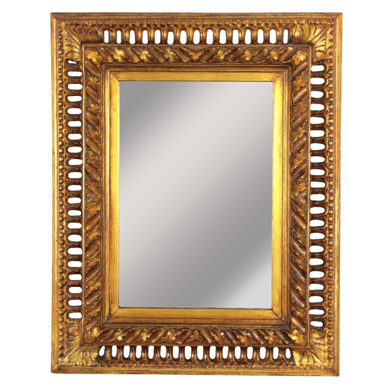 19th Century Spanish Baroque Style Giltwood Mirror For Sale