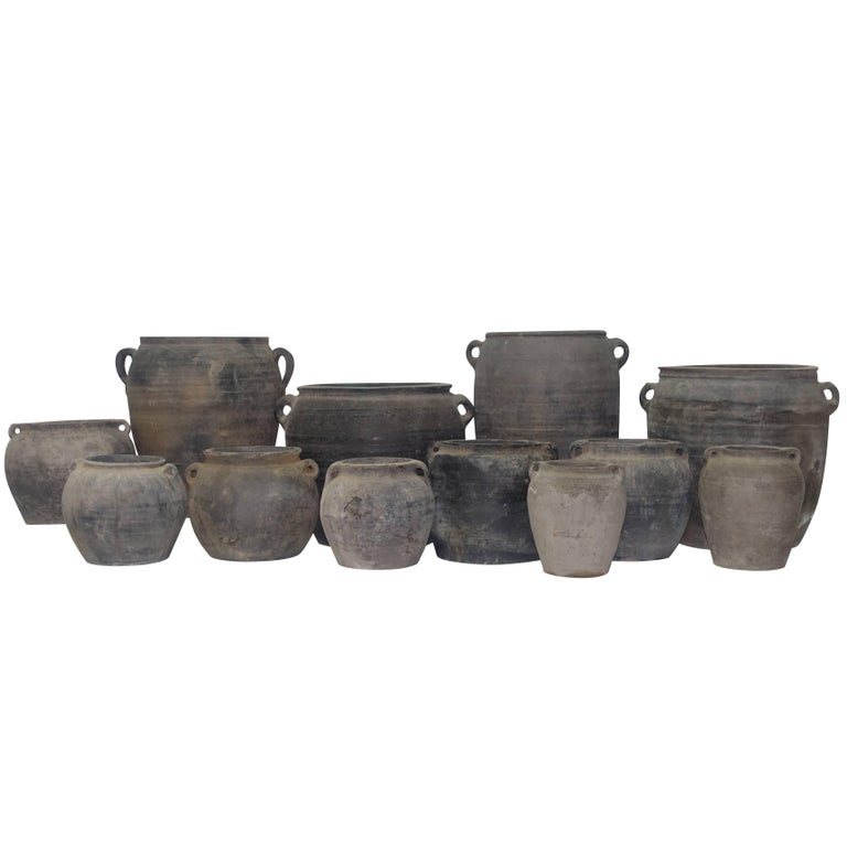 Terra Cotta Weathered Charcoal Pots, China
