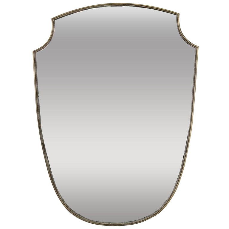 Midcentury Italian Shield Shape Mirror