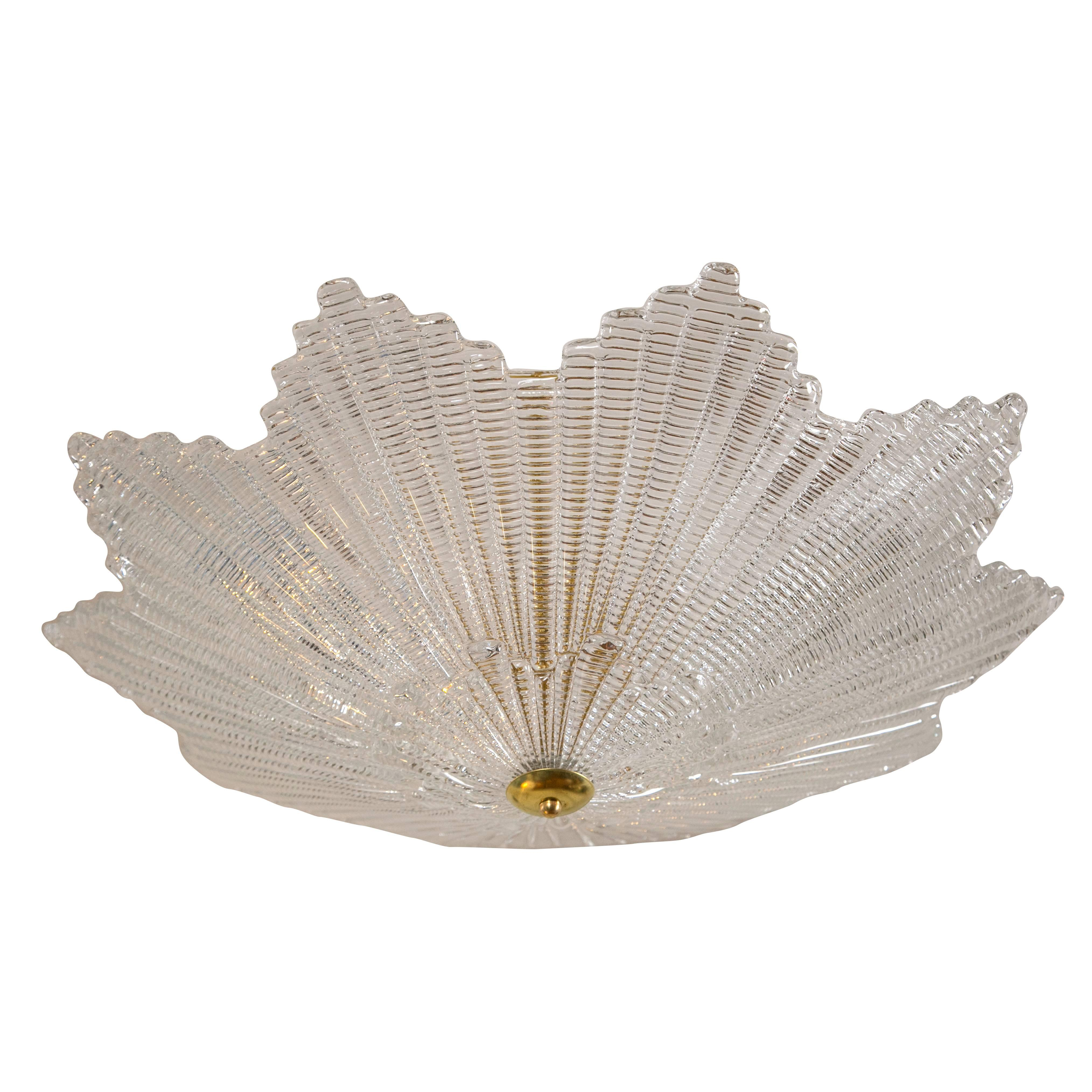 Large Murano Star-Shaped Ceiling Fixture