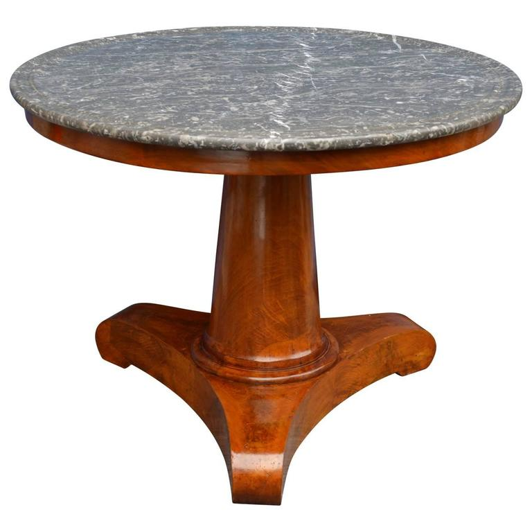 French 19th Century Marble-top Table