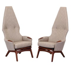 Adrian Pearsall Pair of Walnut Chairs for Craft Associates Model #2056-C, 1960