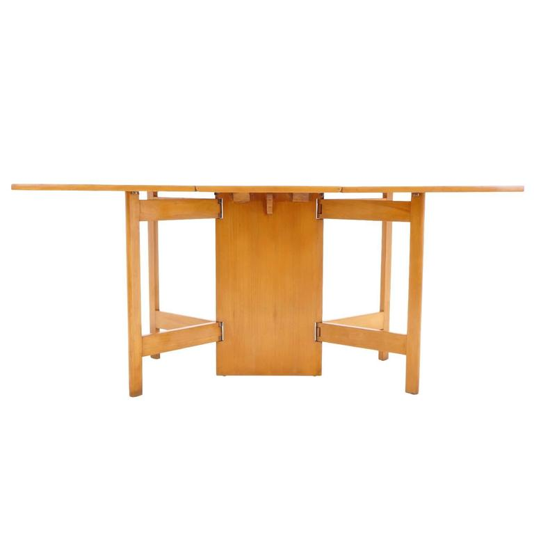 george nelson for herman miller gate leg dining table excellent at 1stdibs. Black Bedroom Furniture Sets. Home Design Ideas