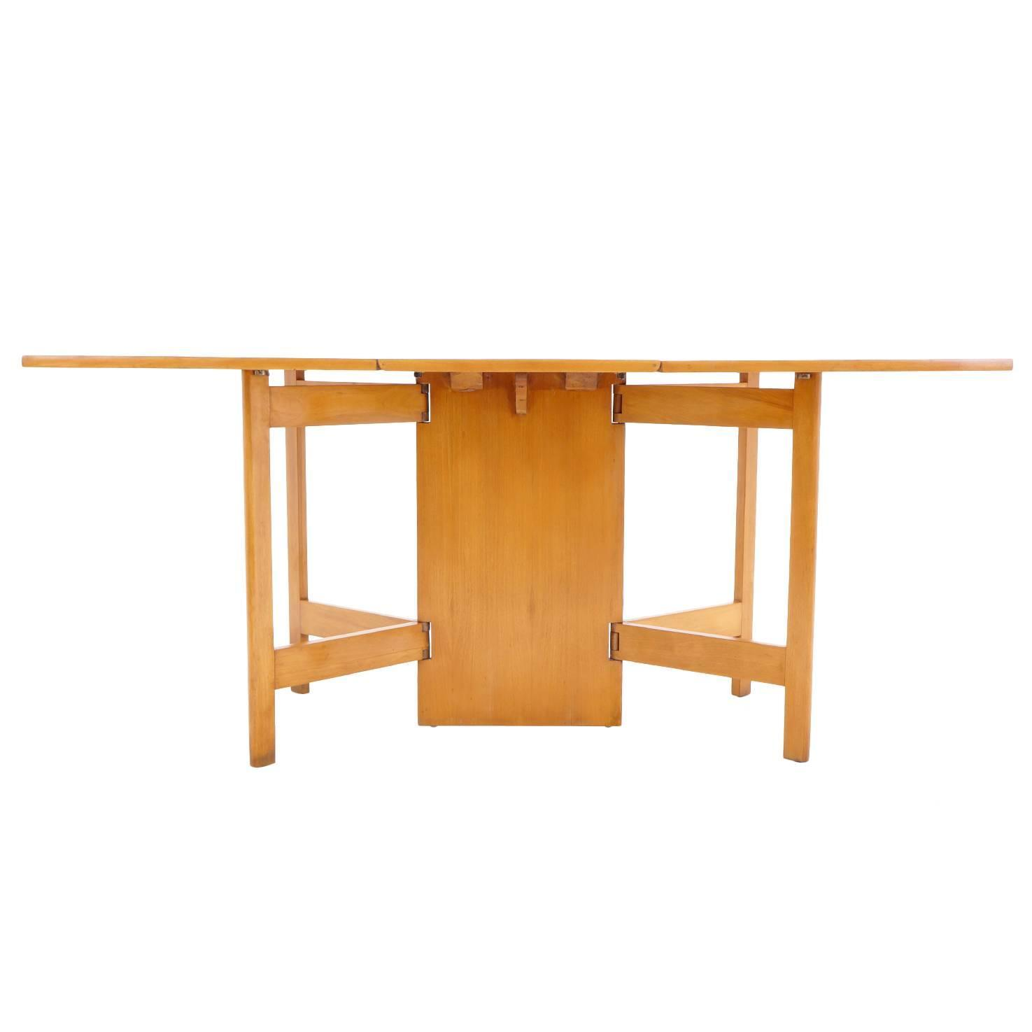 george nelson for herman miller gate leg dining table. Black Bedroom Furniture Sets. Home Design Ideas