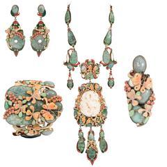 Rare Vega Maddux Five-Piece Jewelry Suite