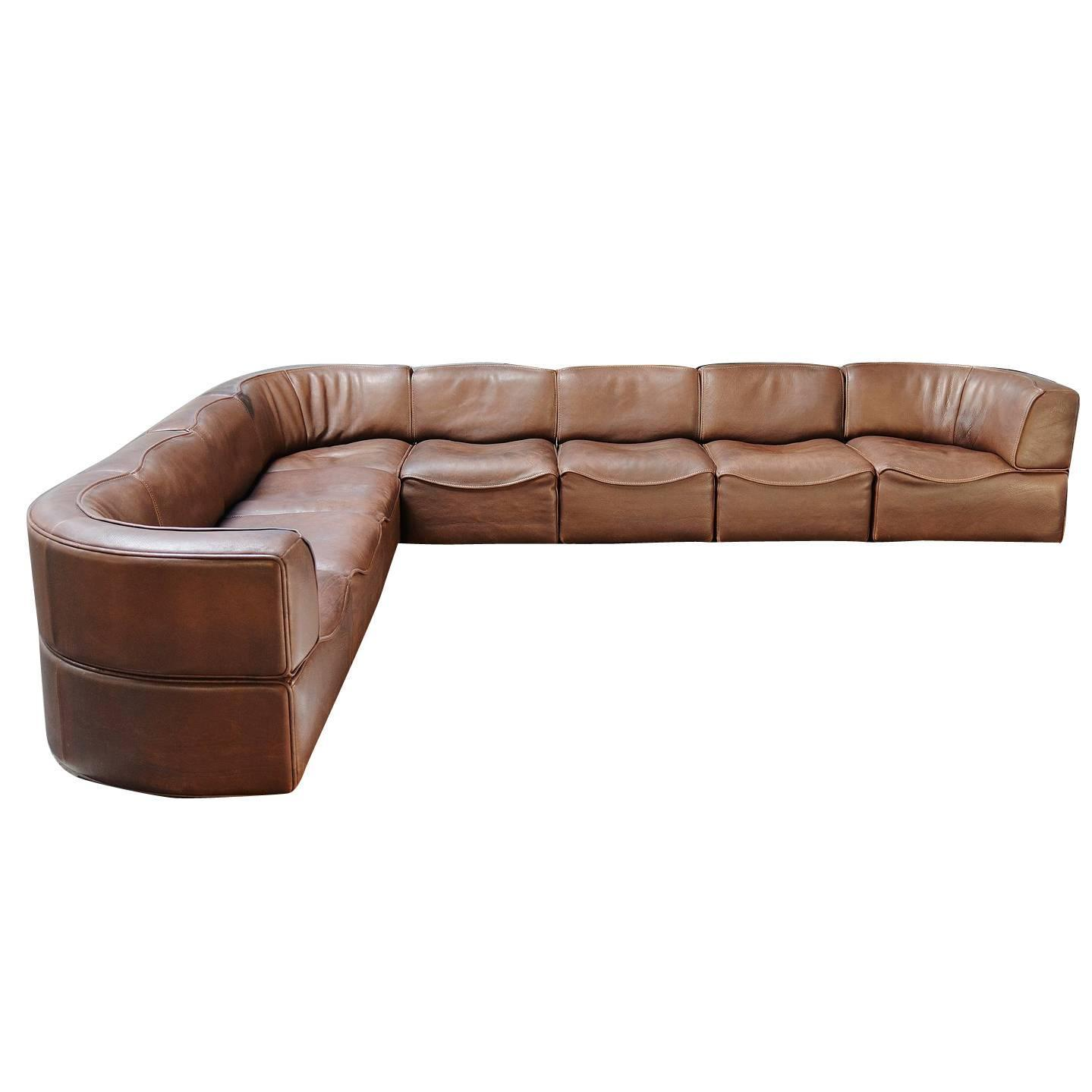 de sede ds15 element sofa in buffalo leather switzerland 1970 at 1stdibs. Black Bedroom Furniture Sets. Home Design Ideas
