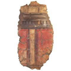 Large Roman or Pompeian Style Fresco Panel in Full Relief