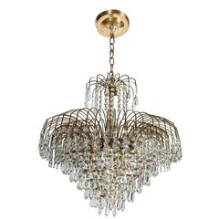 Spectacular Hollywood Regency Cut Crystal Chandelier