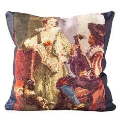 Figural Reverse Needlepoint Cushion