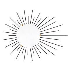French Modernist Sunburst Mirrors, 1960s