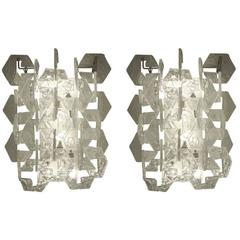 Pair of Carlo Nason for Mazzega Sconces, Italy, 1960s