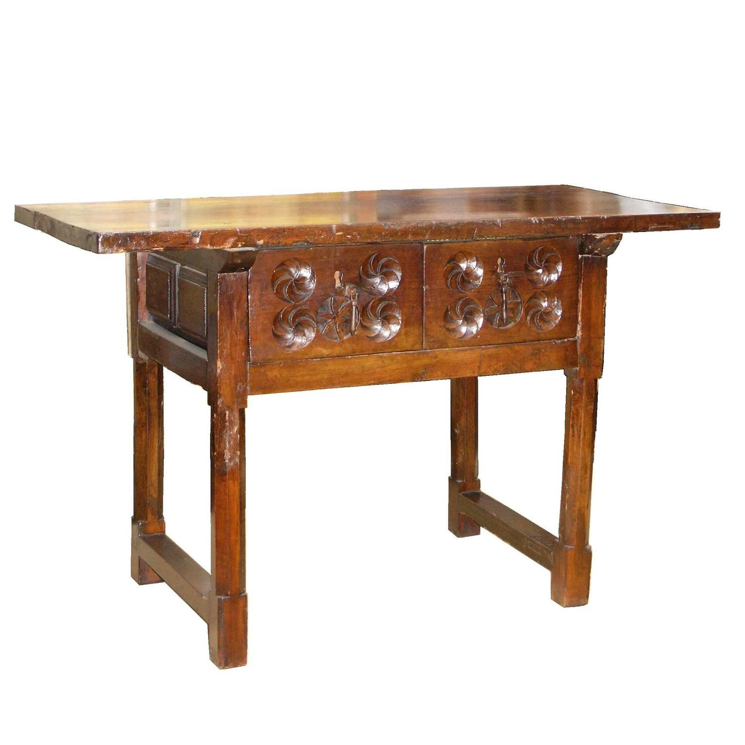 18th c spanish baroque table for sale at 1stdibs for Spanish baroque furniture