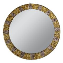French, 1970s Mosaic Mirror