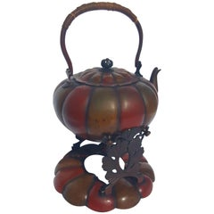 Chinese Tea Kettle and Pedestal