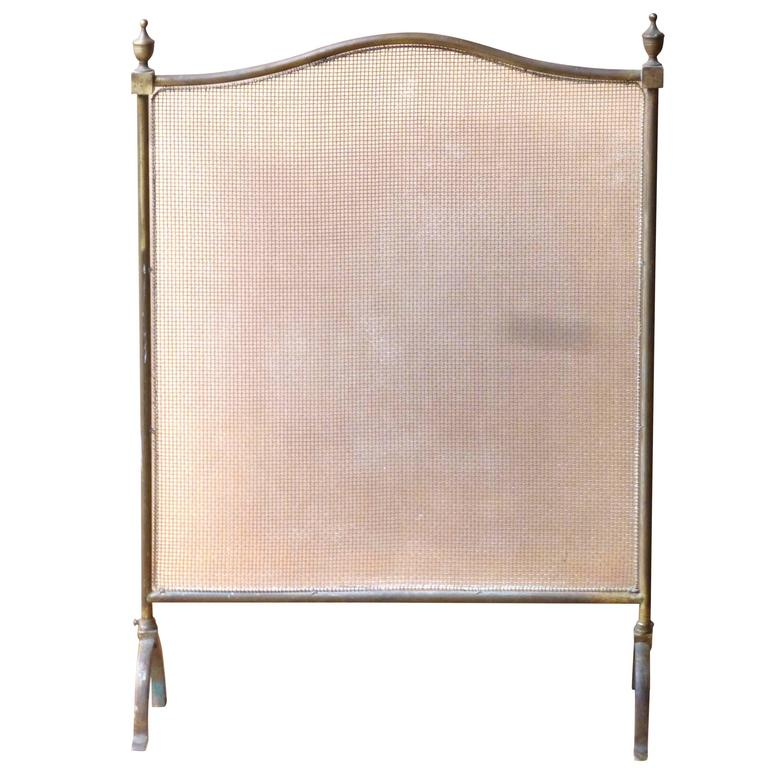 this 19th century brass and wirework fireplace screen fire screen is
