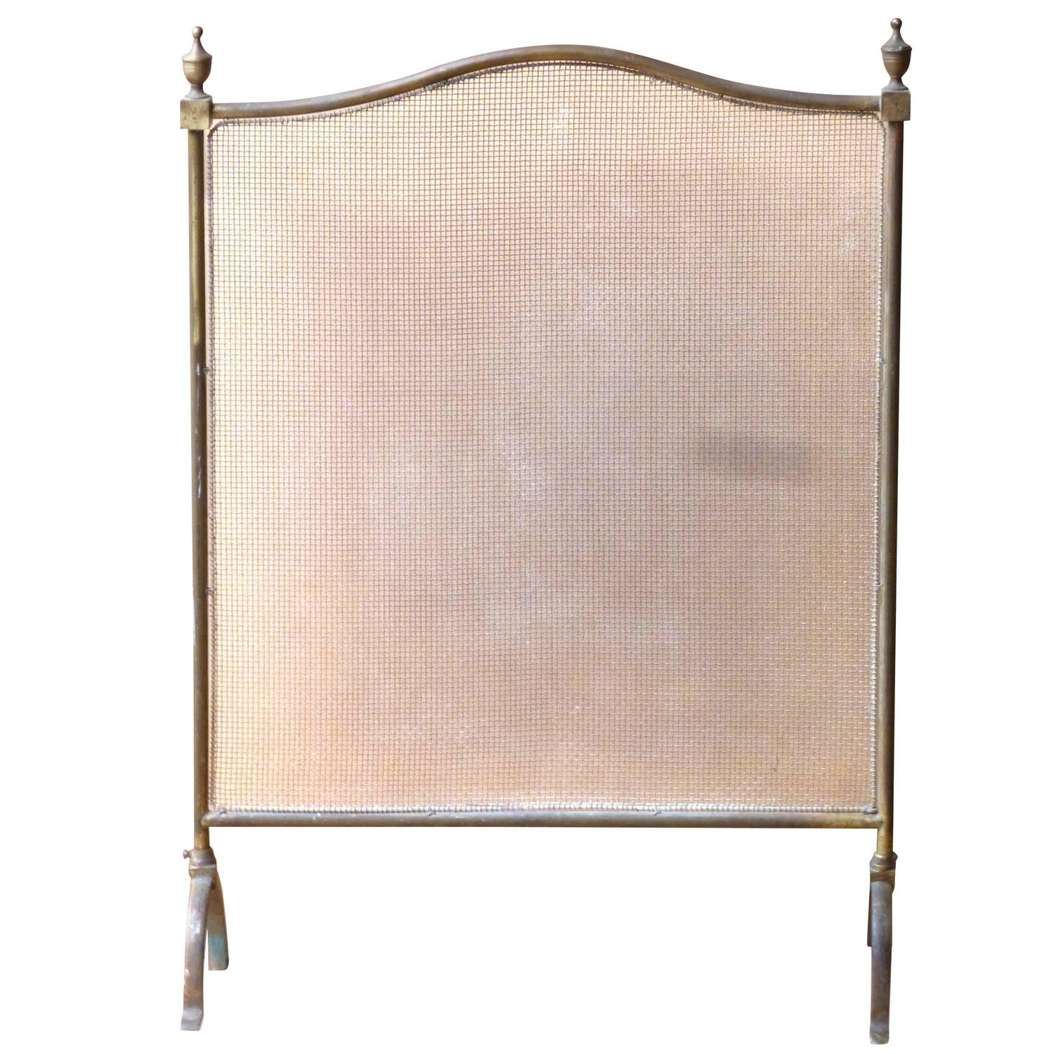 century brass and wirework fireplace screen fire screen at 1stdibs