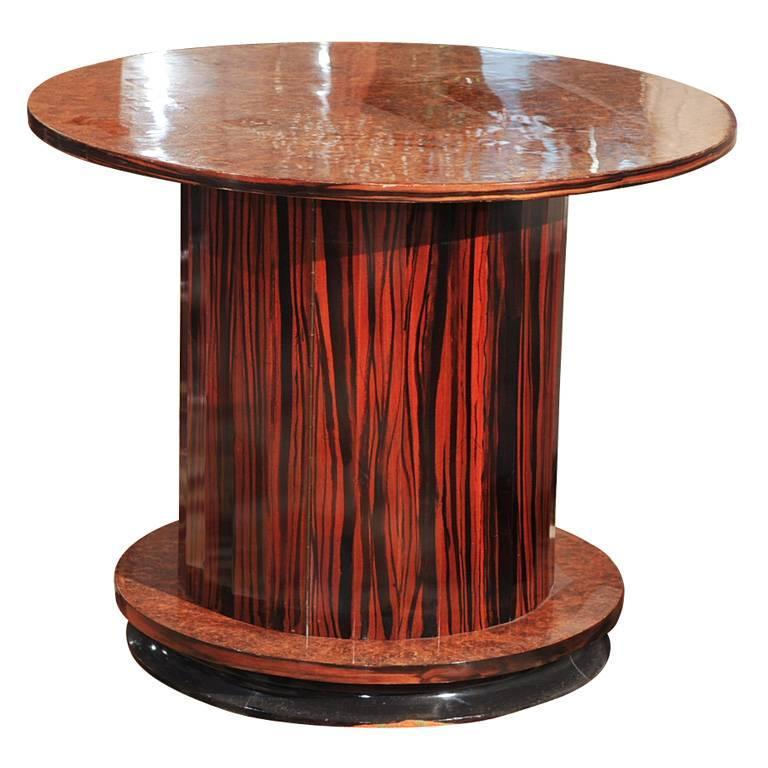 Fluted Side Table And Bar Multiple Woods For Sale At 1stdibs