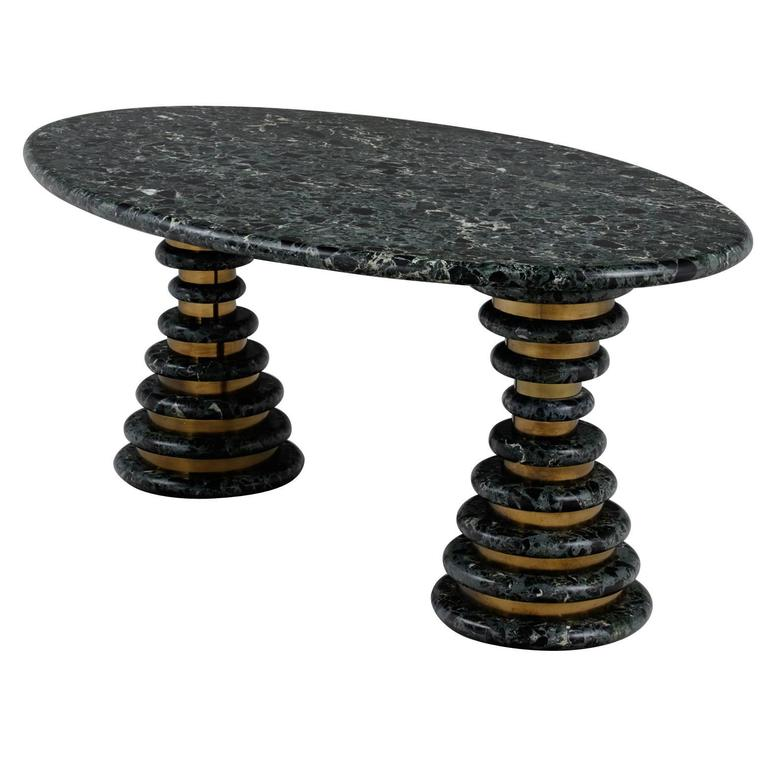Marzio Cecchi Oval Green Marble Table For Sale at 1stdibs : 3675item3664X1l from www.1stdibs.com size 768 x 768 jpeg 45kB