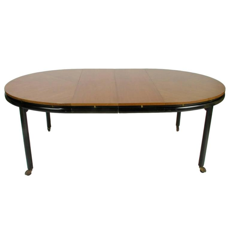 Baker New World Collection Oval Dining Table by Winsor White & Michael Taylor