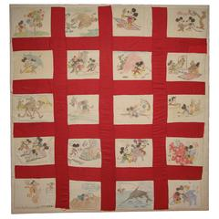 Mickey Mouse Folk Quilt Cover