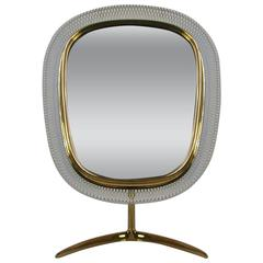Mid-Century French Vanity Mirror in the Manner of Matégot, 1950s