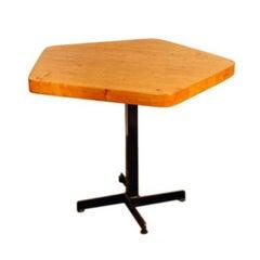 Original Pentagonal Table by Charlotte Perriand for Les Arcs Ski Resort