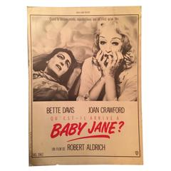 "1962 ""Whatever Happened to Baby Jane?"" French Movie Poster"