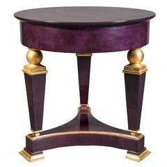 Goat Skin Springer Side Table