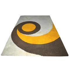 "Large Mid-Century Modern Dutch Wool ""Rya"" Carpet Made by Desso"